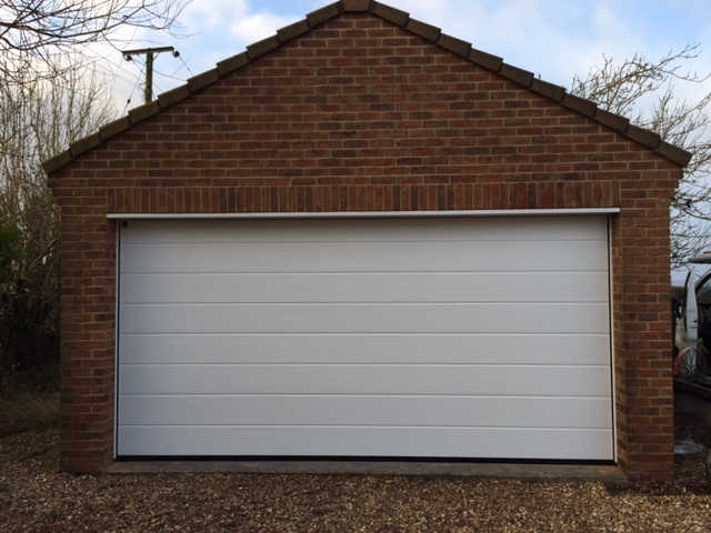 Insulated Sectional Door Installation In Gloucestershire